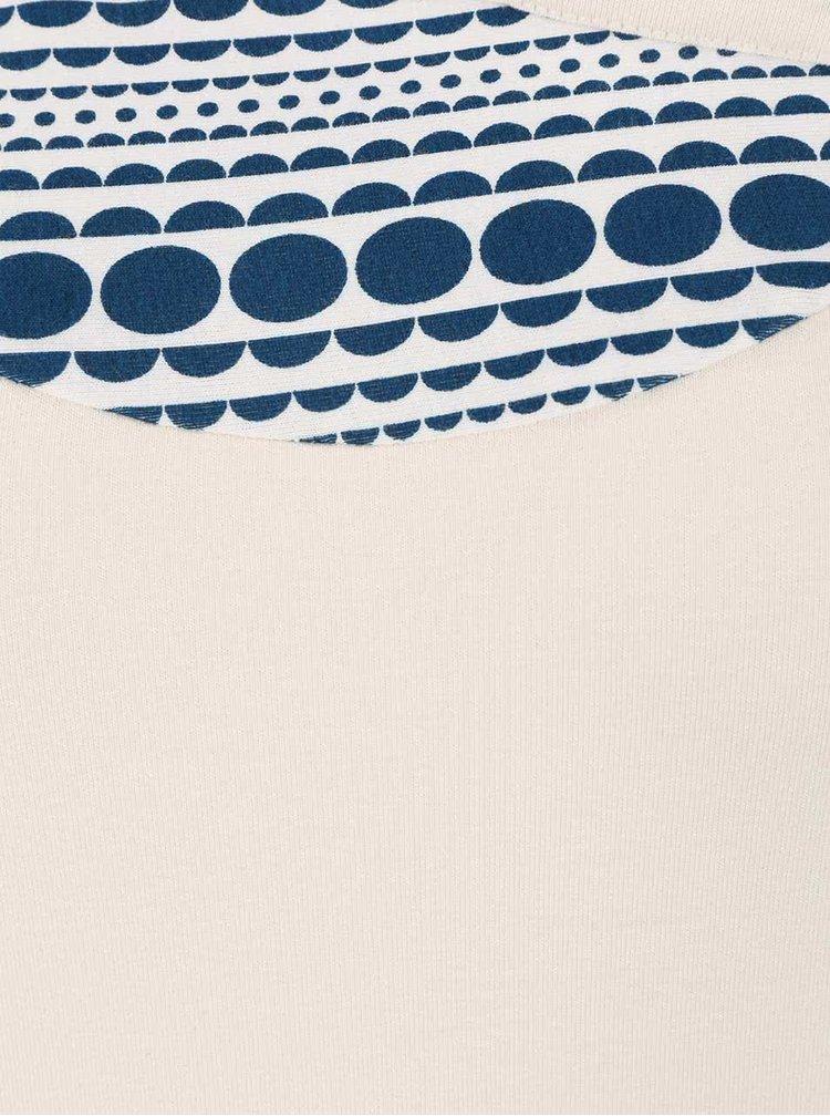 Pulover crem Tranquillo Burni cu detaliu albastru