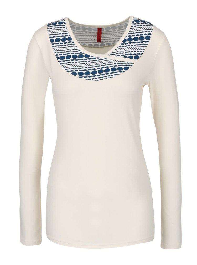 Krémové tričko s dlhým rukávom Tranquillo Burni