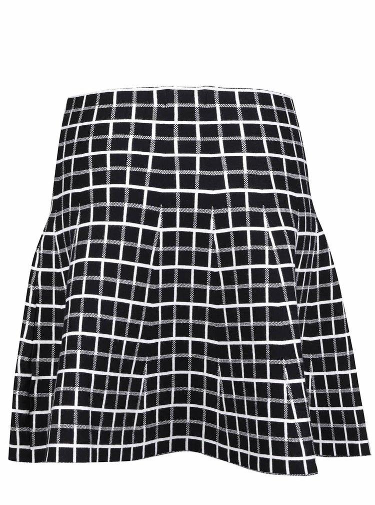 Krémovo-čierna kockovaná sukňa Apricot