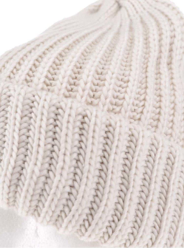 Căciulă crem Pieces Poulula tricotată