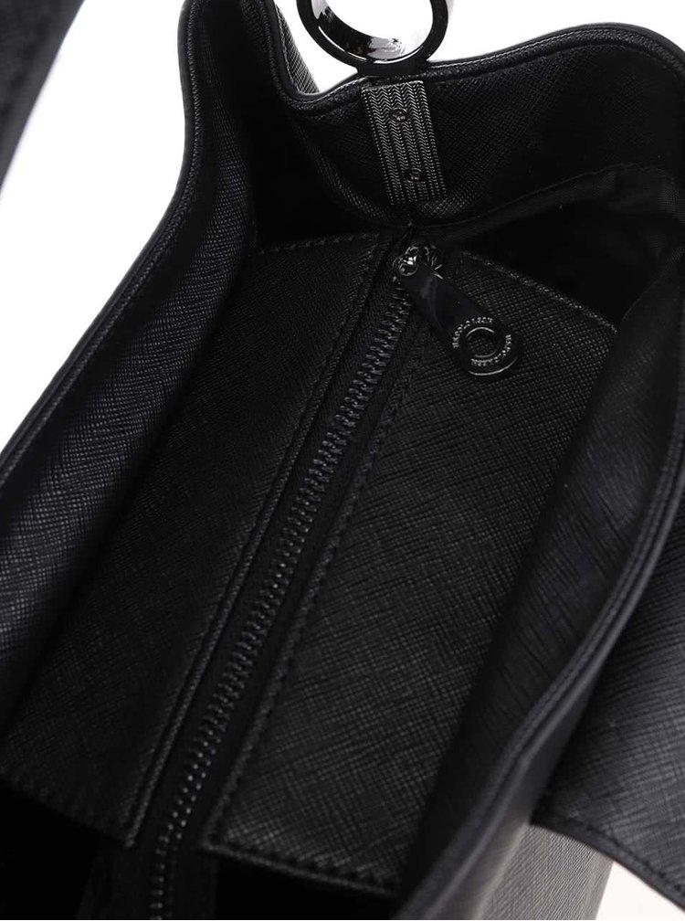 Čierna kabelka so zapínaním na magnet U.S. Polo Assn