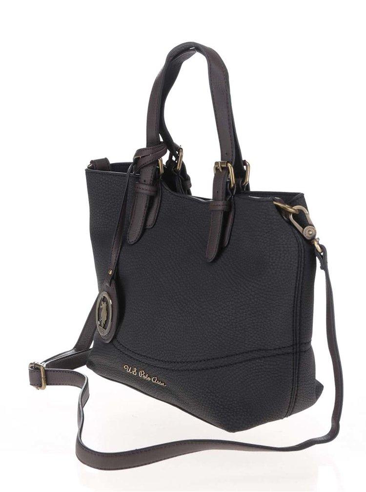 Tmavosivá menšia kabelka s odnímateľným popruhom U.S. Polo Assn