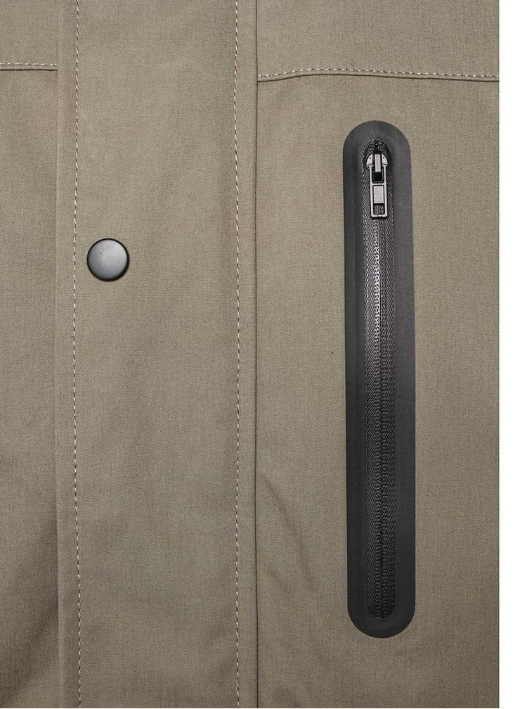 Khaki pánska bunda s kapucňou RVLT