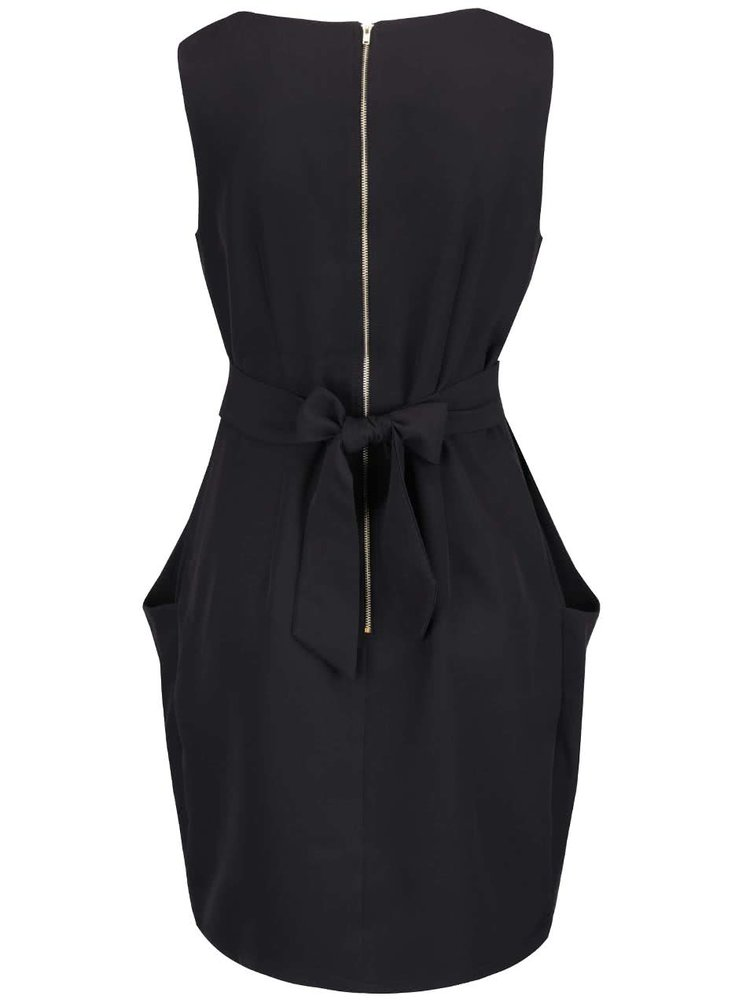 Čierne šaty s mašľou Apricot
