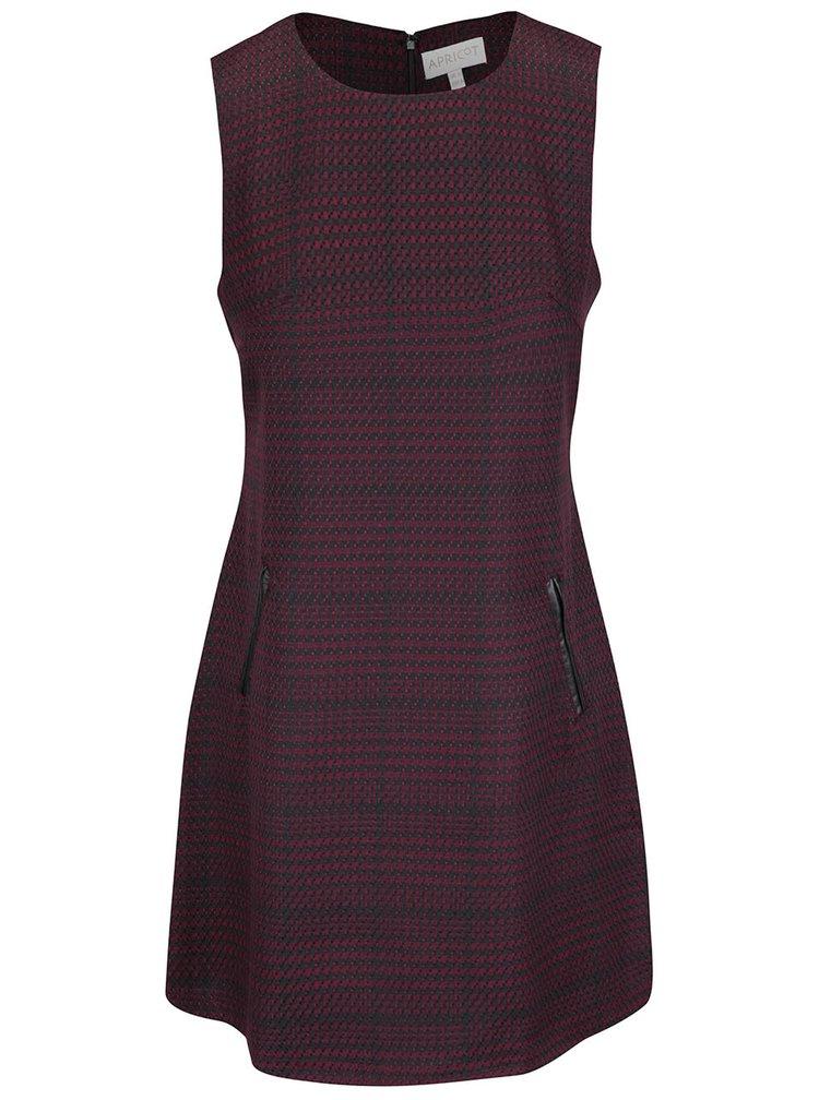 Černo-vínové  šaty Apricot