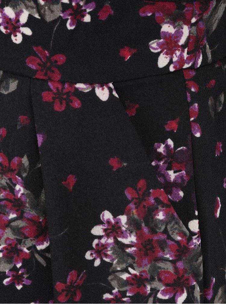 Černé šaty s květinovým vzorem Apricot