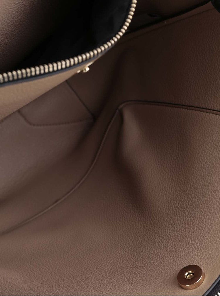 Černá větší kabelka s odnímatelným popruhem U.S. Polo Assn