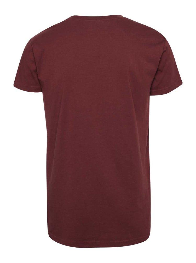 Vínové pánske tričko s potlačou RVLT