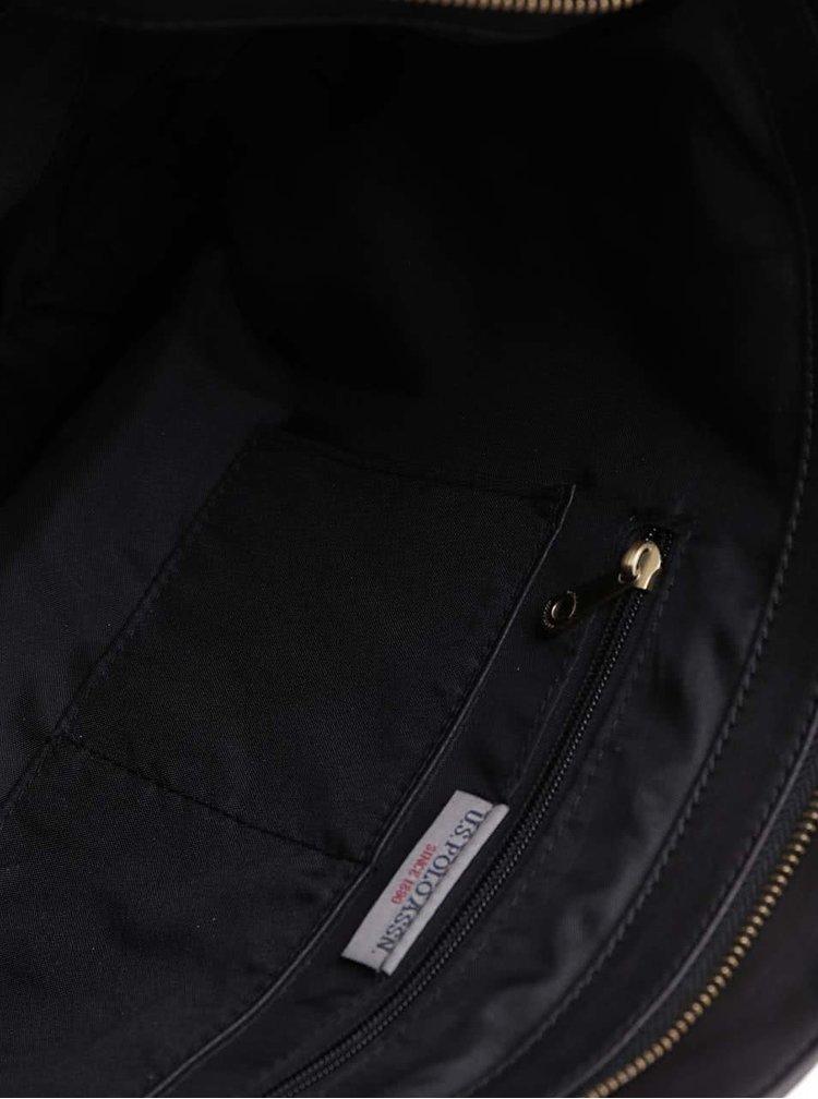 Černý shopper s odepínatelným popruhem U.S. Polo Assn