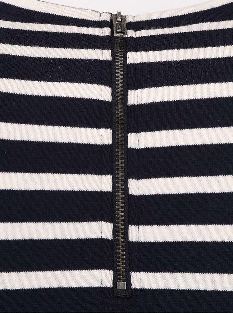 Bielo-modré voľnejšie pruhované šaty ONLY Mettis