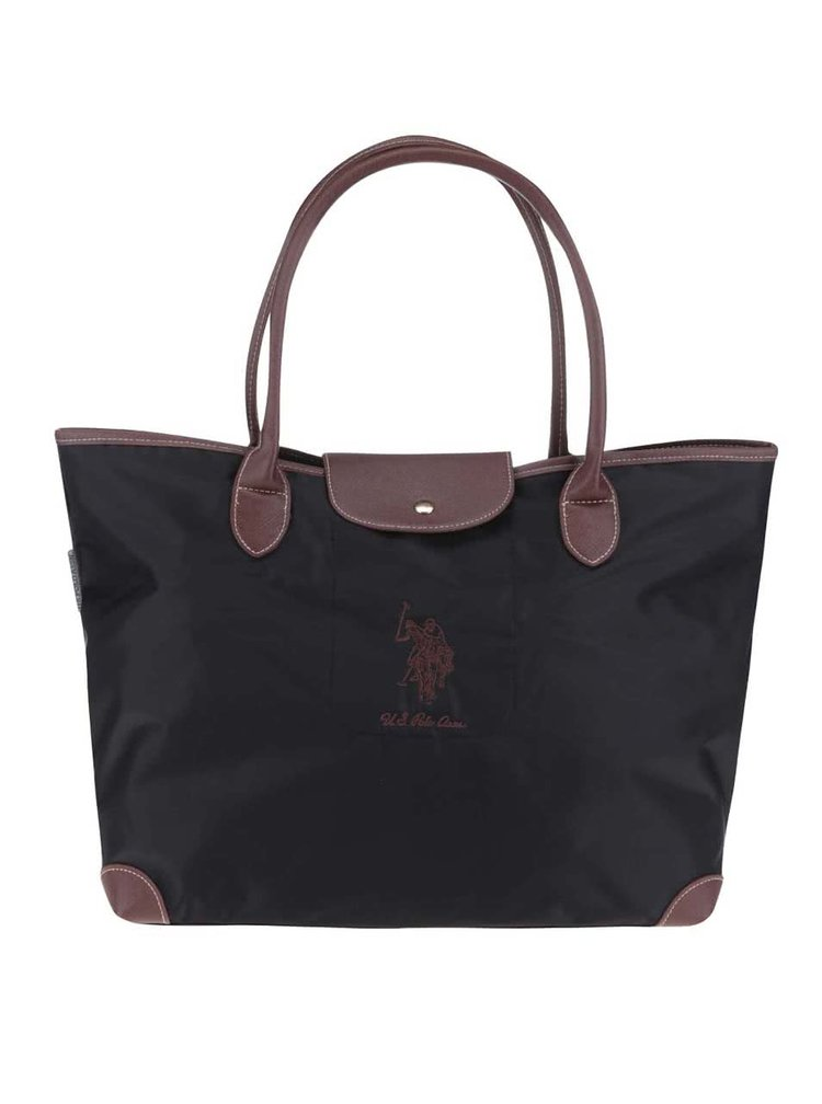 Geanta shopper neagra U.S. Polo Assn