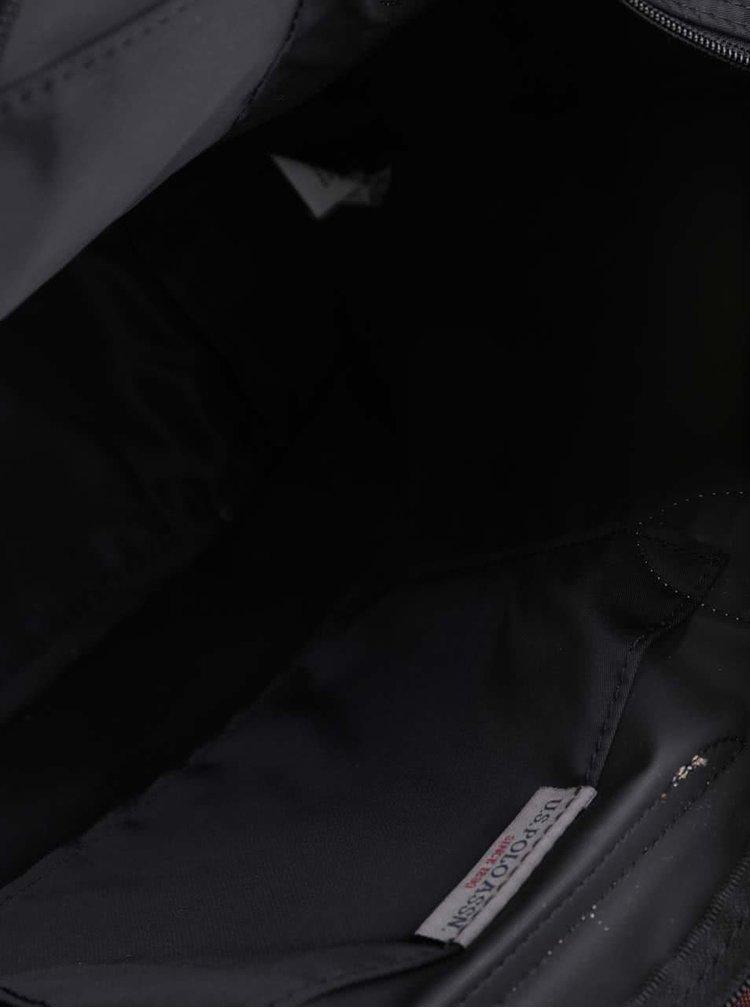 Černá větší kabelka do ruky s odnímatelným popruhem U.S. Polo Assn
