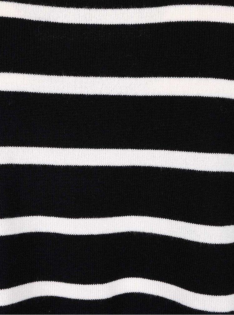 Bluză neagră ONLY Mila cu dungi albe
