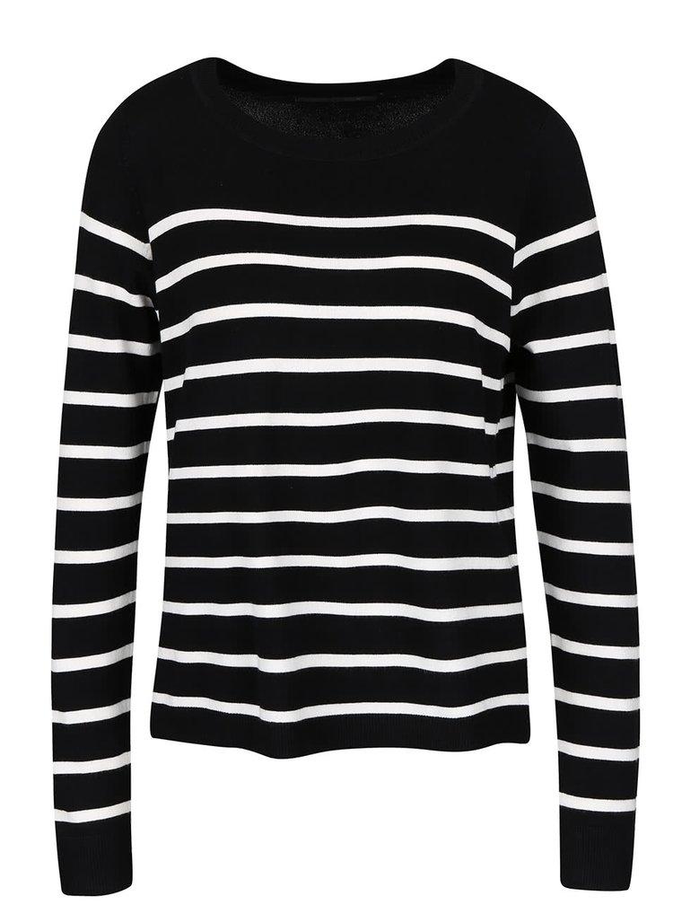 Bluza neagra ONLY Mila cu dungi albe