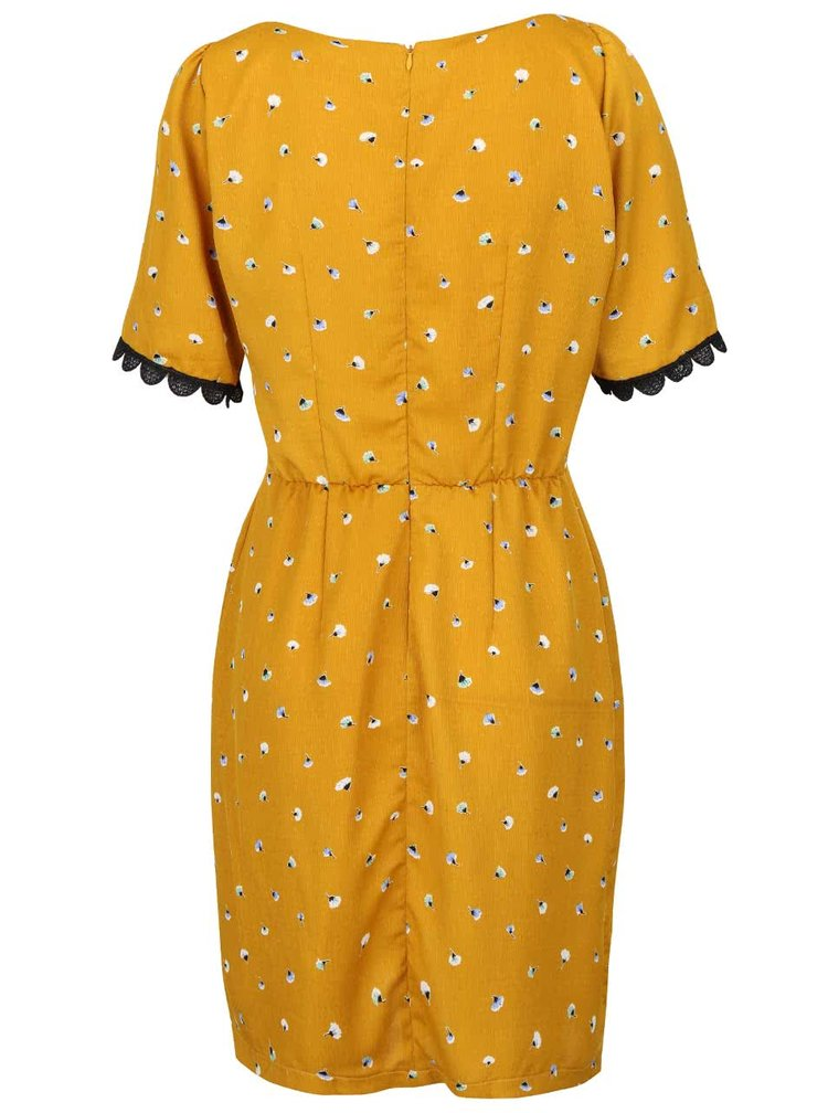 Rochie galben mustar Trollied Dolly Cross
