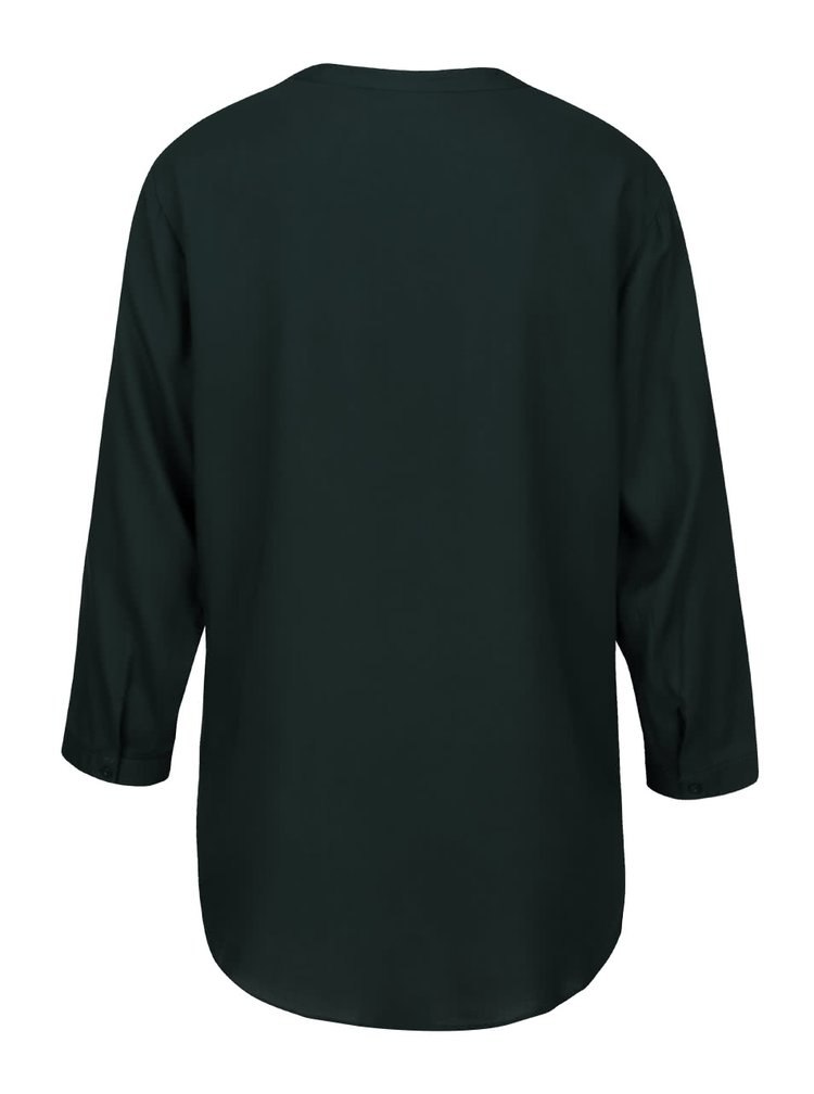 Tmavě zelená halenka s 3/4 rukávy ONLY Vera