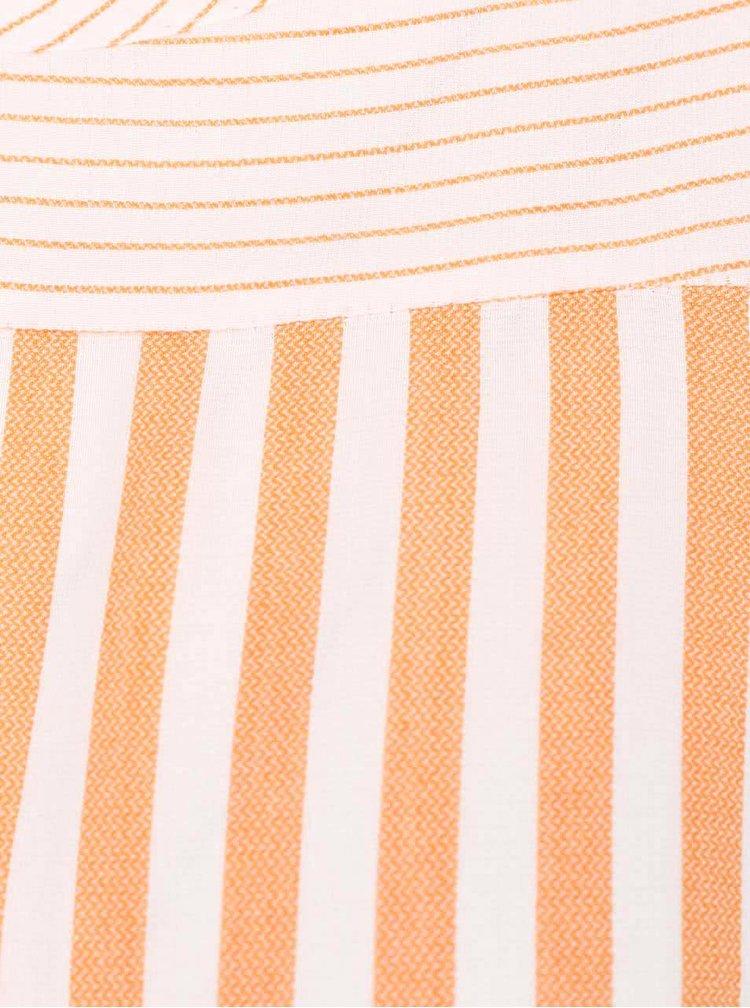 Oranžovo-krémová pruhovaná halenka s průstřihy na ramenou Dorothy Perkins