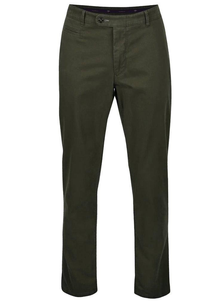 Tmavě zelené chino kalhoty Fynch-Hatton