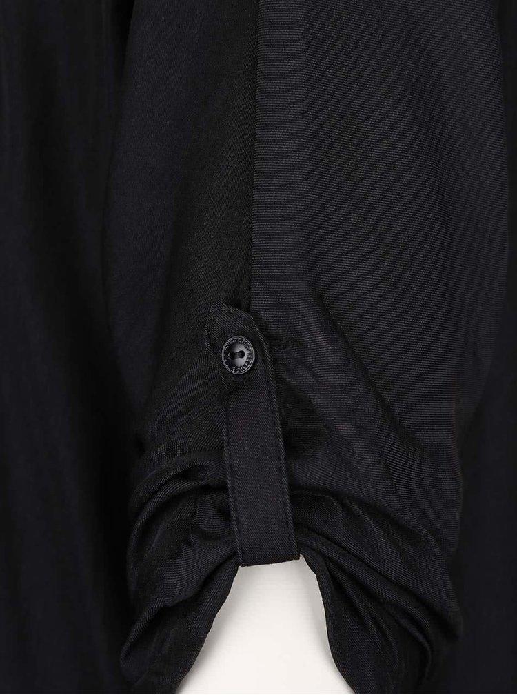 Cămașă neagră ONLY Erin cu decupaj la spate