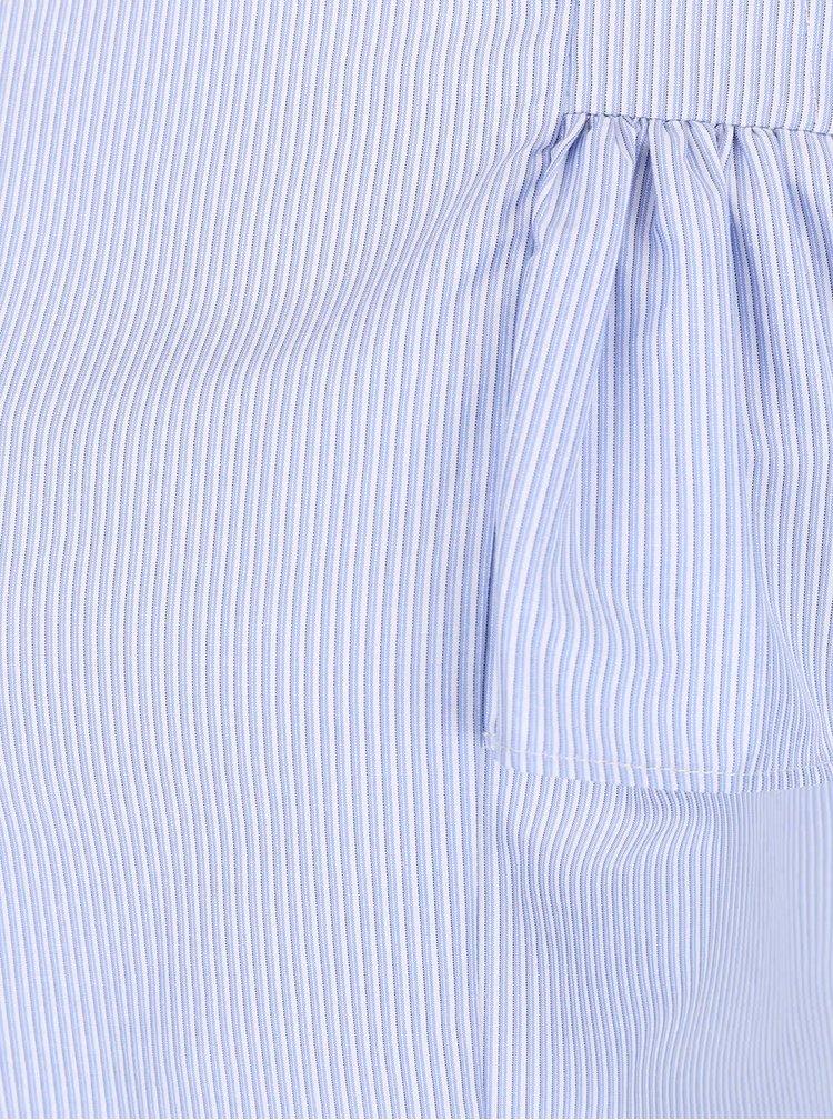 Bluza albastru deschis cu volane Dorothy Perkins