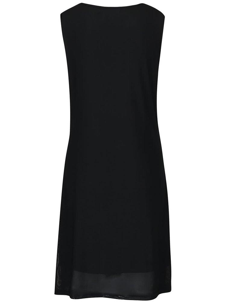 Rochie neagră Mela London cu aplicații