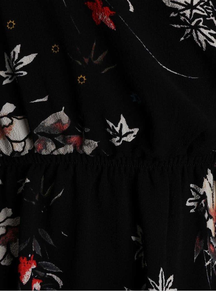 Rochie neagra ONLY Mallory cu imprimeu floral