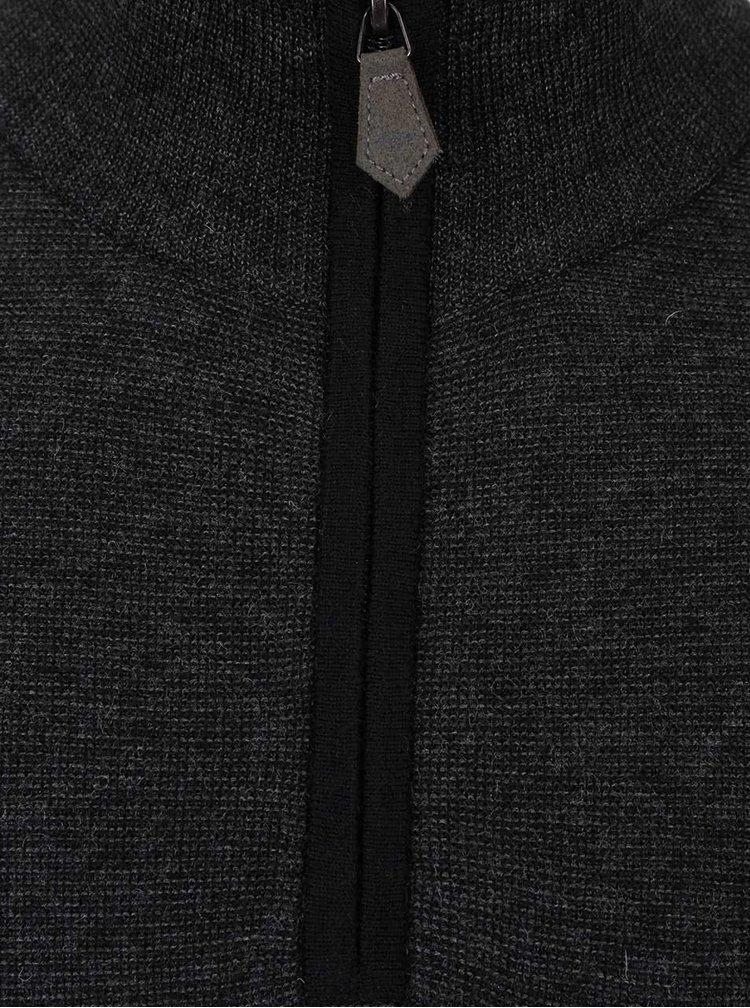 Pulover negru Fynch-Hatton cu guler înalt
