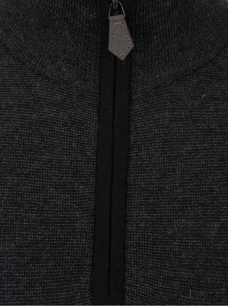 Černý svetr se zipem Fynch-Hatton