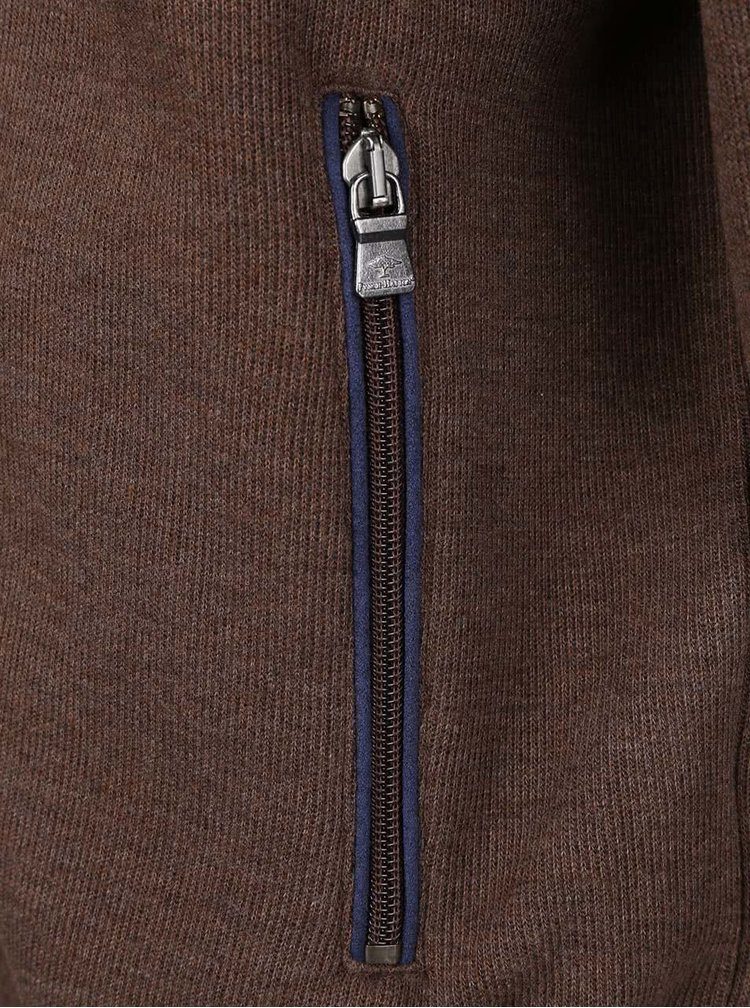 Hnedá mikina na zips Fynch-Hatton