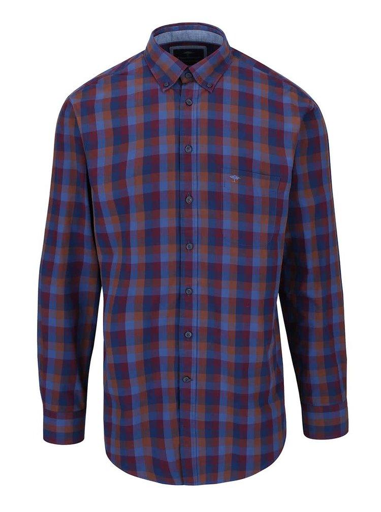 Modro-vínová kostkovaná košile Fynch-Hatton