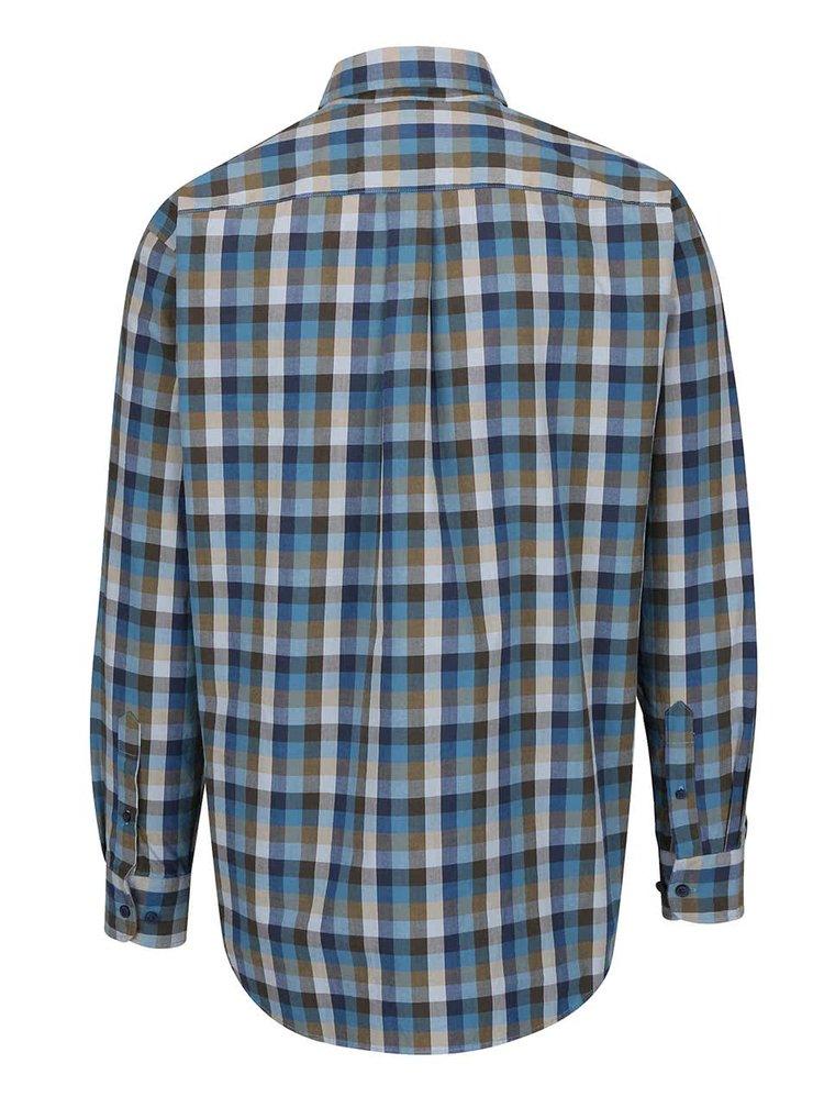 Zeleno-modrá kockovaná košeľa Fynch-Hatton