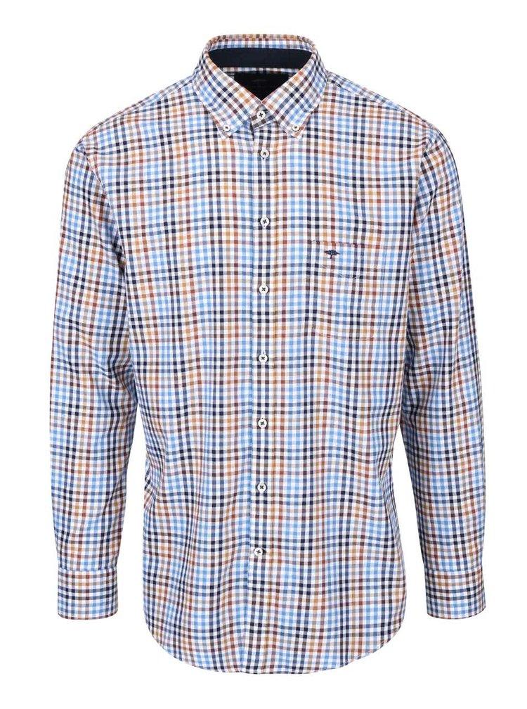 Bielo-hnedo-modrá kockovaná košeľa Fynch-Hatton
