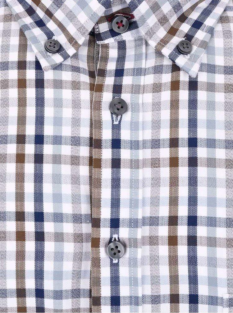 Camasa alba Fynch-Hatton din bumbac cu model in carouri