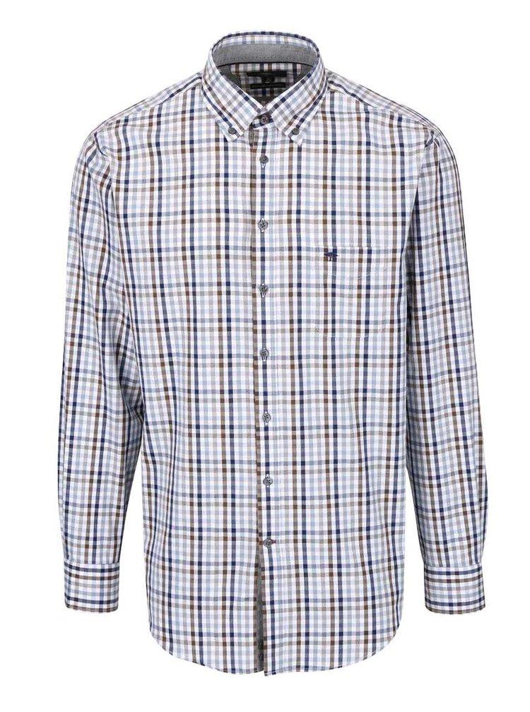 Modro-hnedo-biela kockovaná košeľa Fynch-Hatton