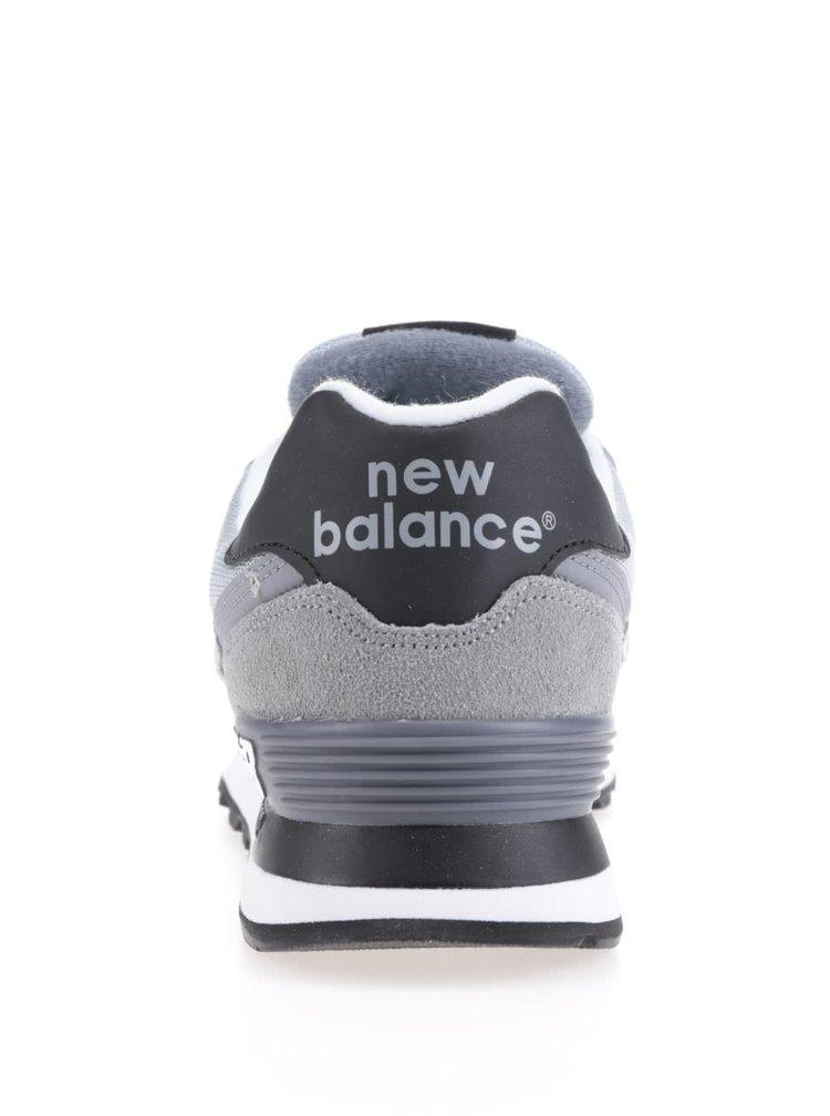 Svetlosivé pánske semišové tenisky New Balance