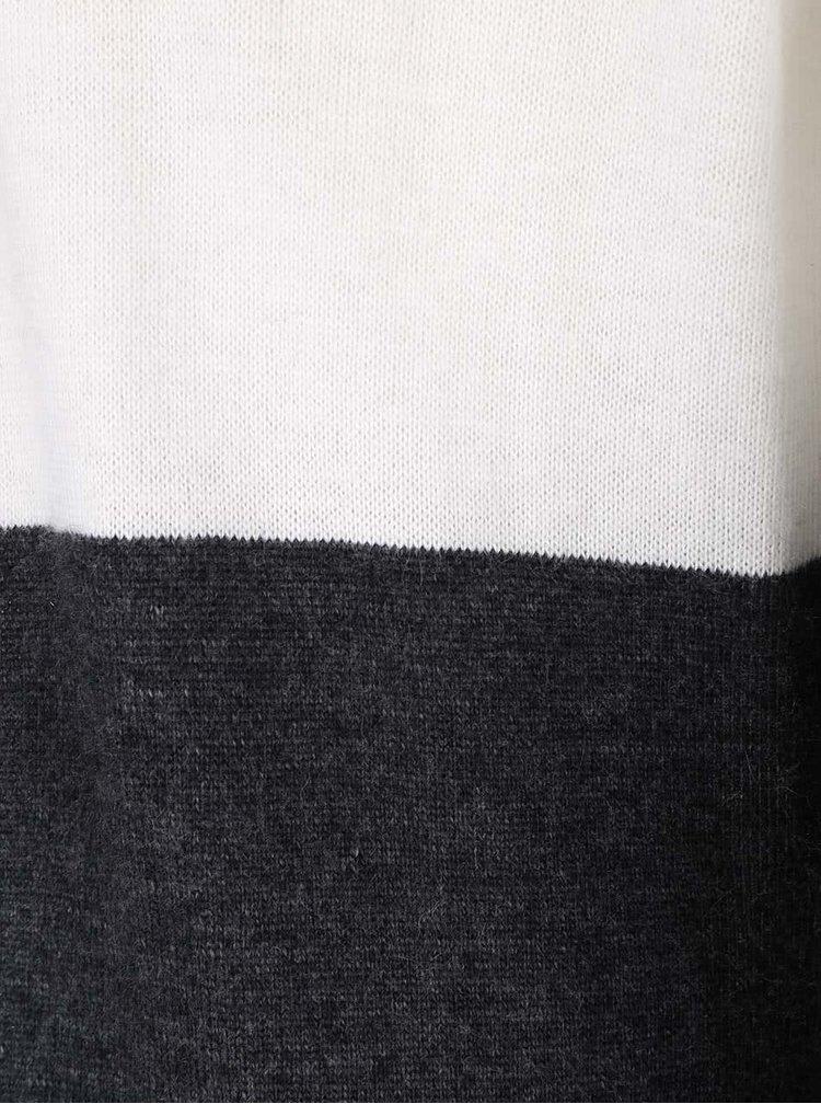 Modro-šedý pruhovaný dlouhý kardigan Lavand