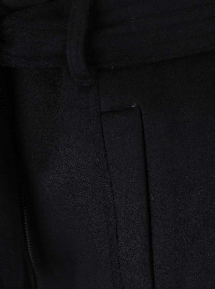 Palton negru VERO MODA Fedora cu gluga