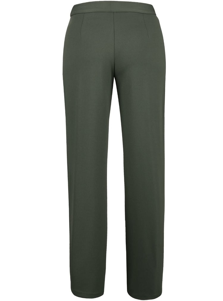 Khaki volnější kalhoty Lavand