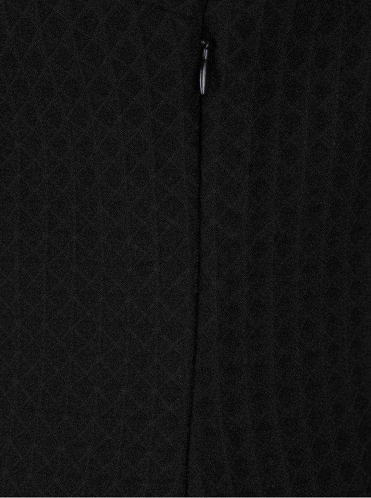 Černé šaty s jemným vzorem Lavand