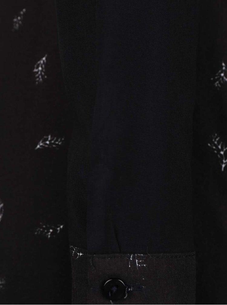 Čierne šaty s potlačou Lavand