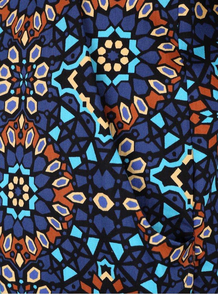 Hnědo-modré vzorované šaty Closet