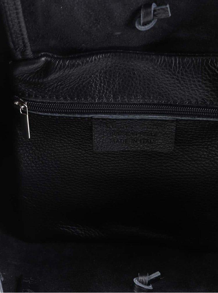 Černý kožený shopper ZOOT Simple