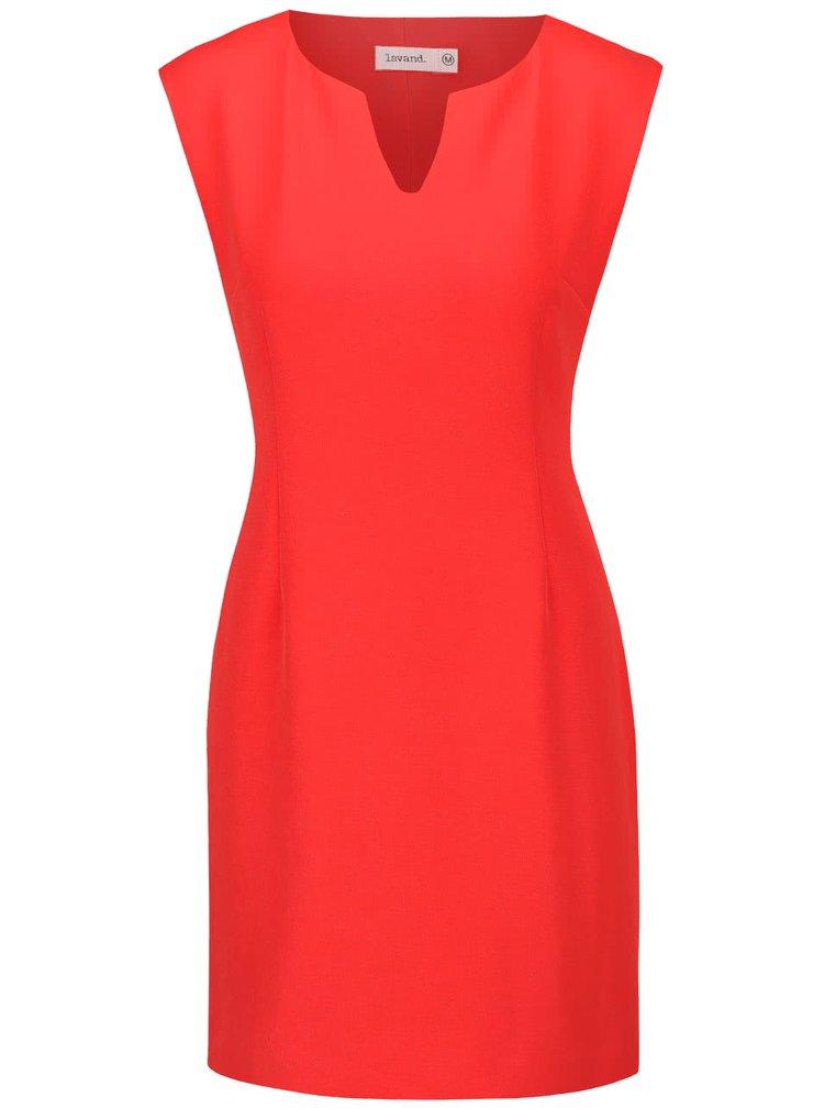 Červené pouzdrové šaty Lavand