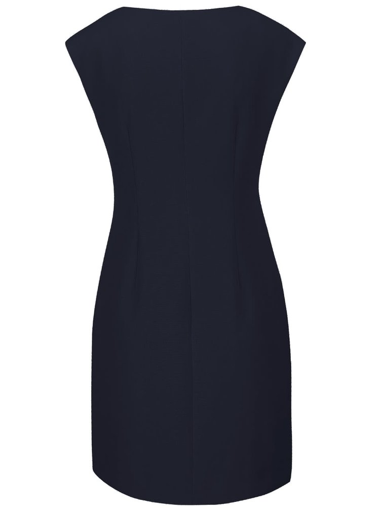 Tmavomodré puzdrové šaty Lavand