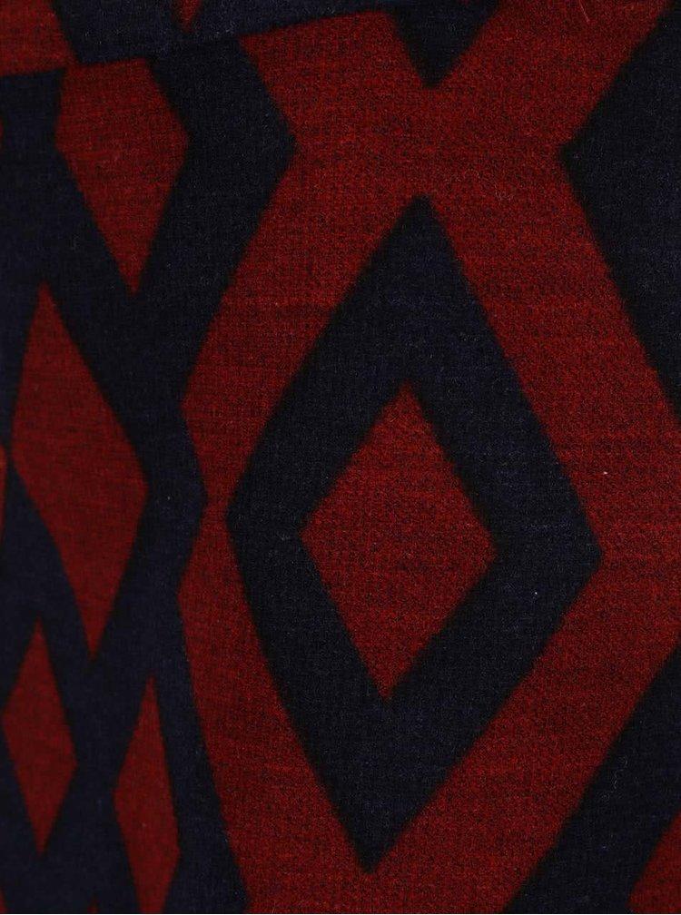 Modro-červená vzorovaná minisukňa VERO MODA Alyssa