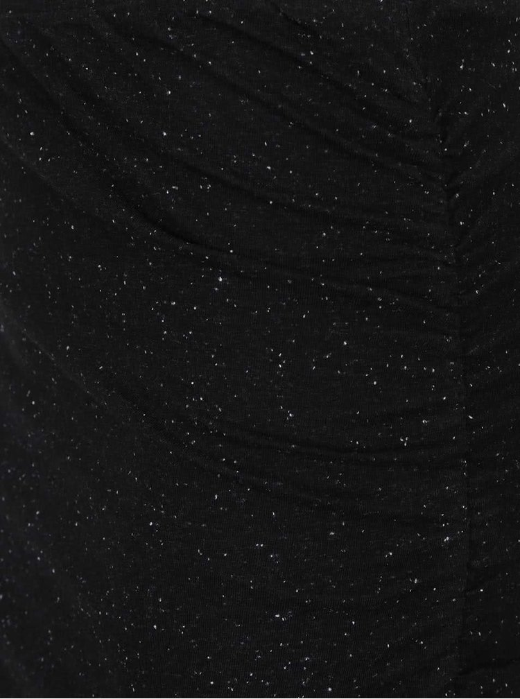 Čierna asymetrická sukňa s drobným vzorovaním Noisy May Ola