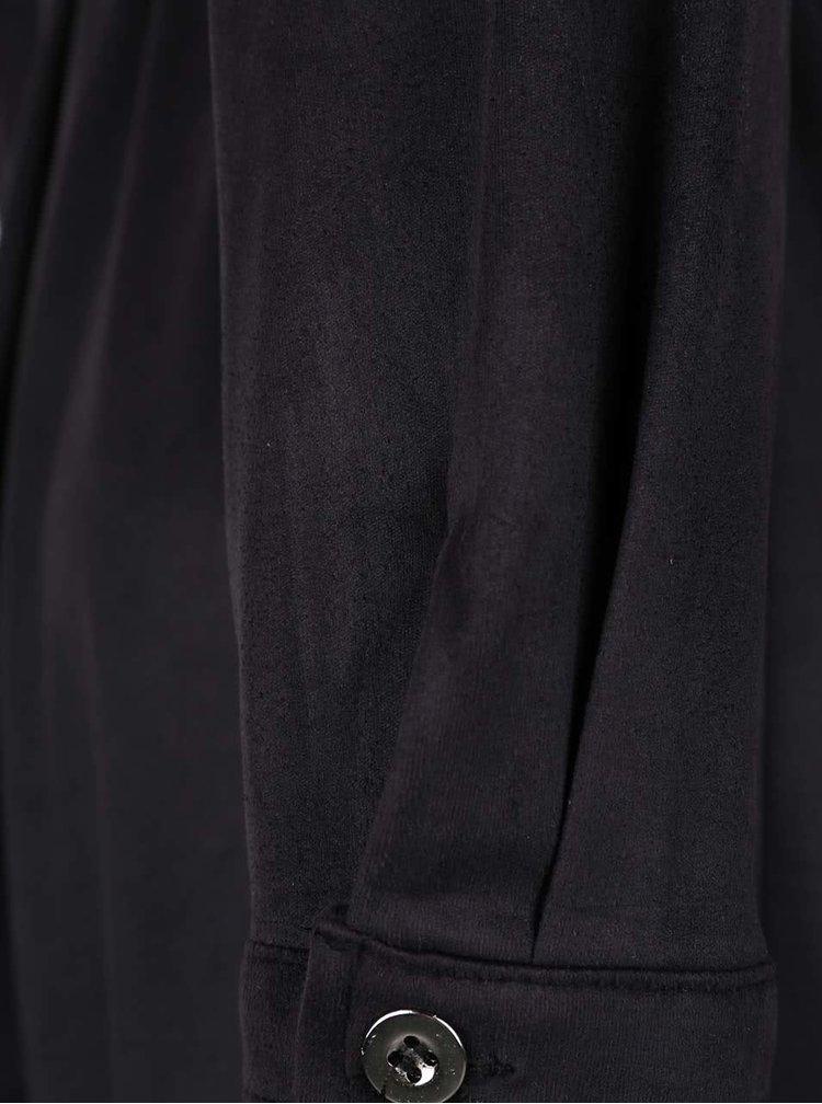 Černé košilové šaty v semišové úpravě Lavand