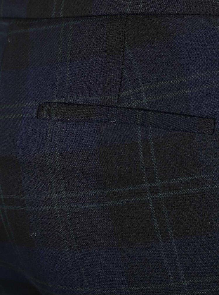 Tmavě modré kárované kalhoty VERO MODA Hannah