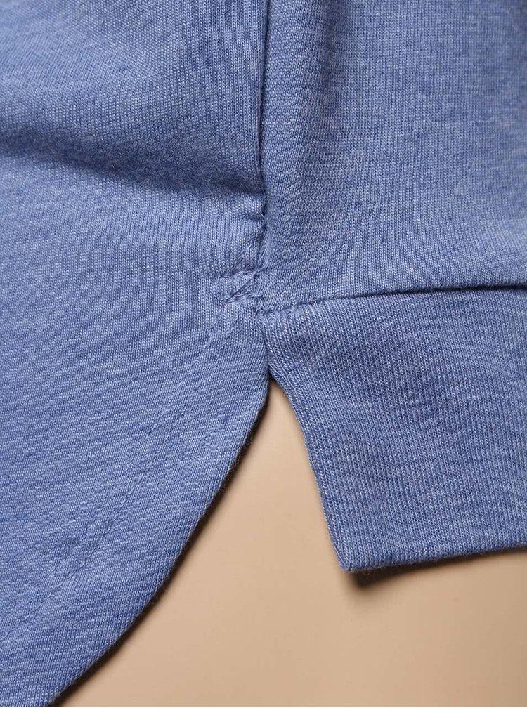 Bluză albastră 5.10.15. cu tiv asimetric și imprimeu pentru fete