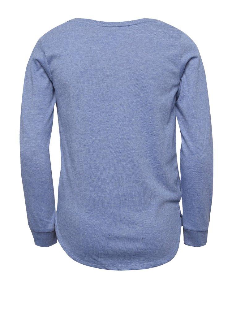 Modré holčičí volné tričko s flitry 5.10.15.